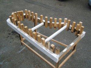 ensuite la fabrication du gabarit pour la forme définitive